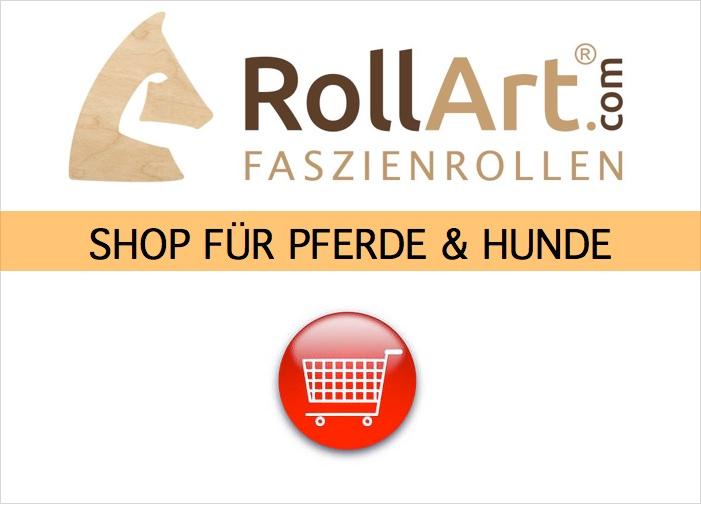 Zum Shop: RollArt® Faszienrollen aus Holz fuer Pferde und Hunde
